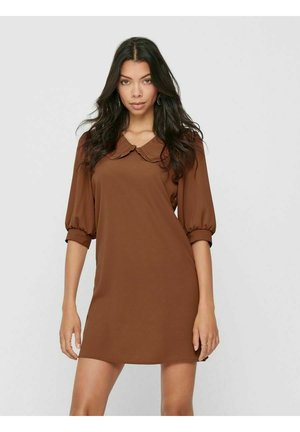 Korte jurk - tobacco brown