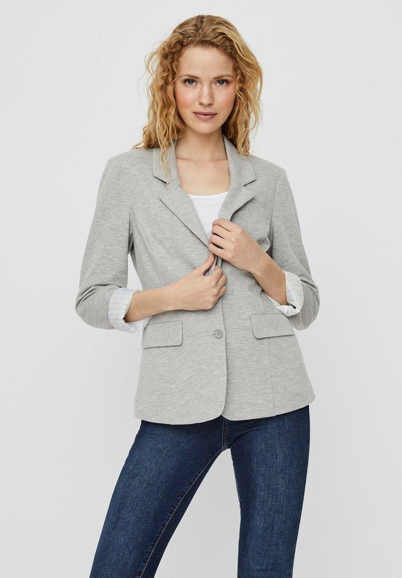 Vero Moda - Blazer - light grey melange