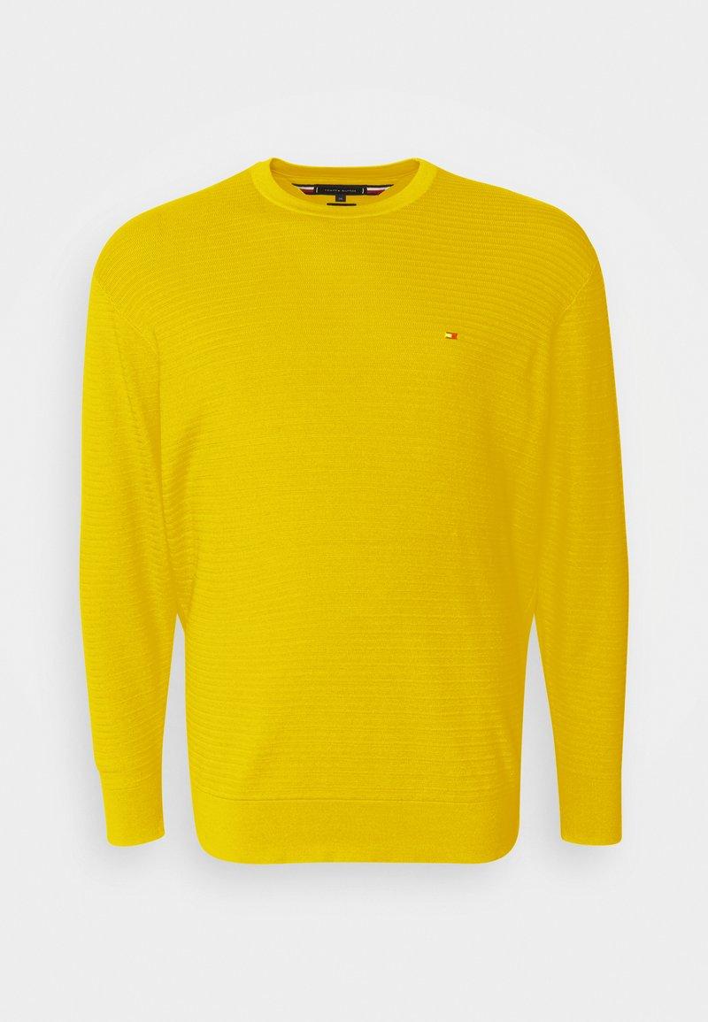 Tommy Hilfiger - FINE ZIG ZAG CREW NECK - Neule - vivid yellow