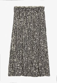 Proenza Schouler White Label - PRINTED GEORGETTE PLEATED SKIRT - Áčková sukně - black/ecru - 1