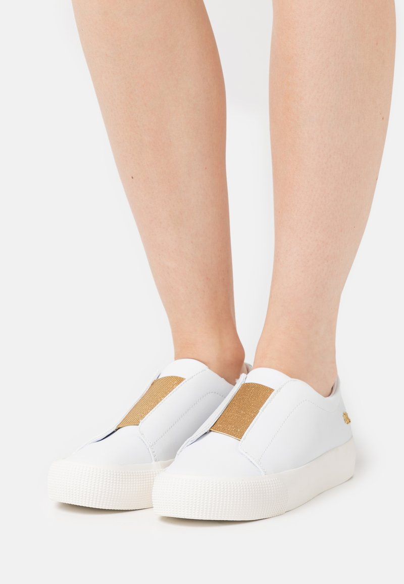 Lauren Ralph Lauren - ISLA - Trainers - white/modern gold