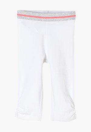 MIT ELASTIKBUND - Leggings - Trousers - white