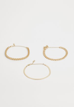 PCKAMELIA BRACELETS 3 PACK - Armbånd - gold-coloured