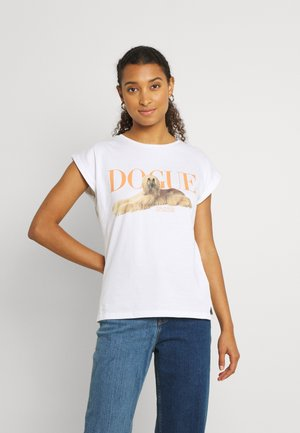 VISBY DOGUE PAWETRY - T-shirt print - white