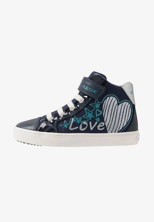 GISLI GIRL - Sneakersy wysokie - navy/turquoise
