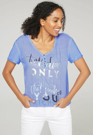 Print T-shirt - soft sky