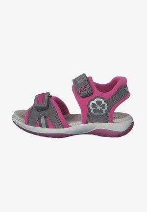 Walking sandals - hellgrau rosa