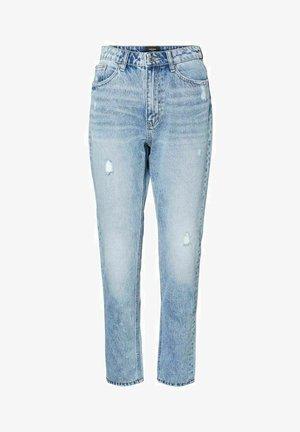 HIGH WAIST - Jeans slim fit - light blue denim