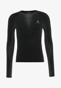 ODLO - CREW NECK PERFORMANCE WARM - Undershirt - black/odlo concrete grey - 4