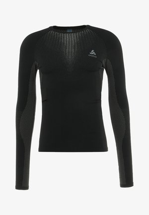 CREW NECK PERFORMANCE WARM - Undershirt - black/odlo concrete grey