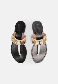 MOSCHINO - T-bar sandals - bianco - 4
