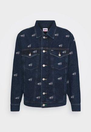 OVERSIZE TRUCKER JACKET UNISEX - Denim jacket - dark blue