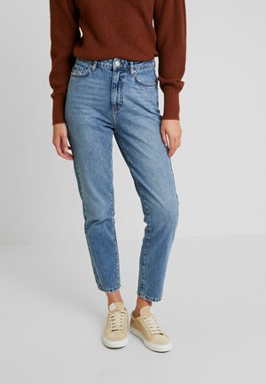 DAGNY HIGHWAIST - Vaqueros tapered - mid blue