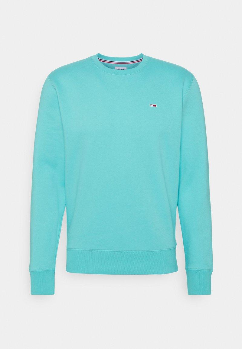 Tommy Jeans - REGULAR C NECK - Collegepaita - chlorine blue