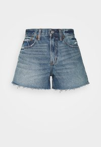 Abercrombie & Fitch - CURVE LOVE MID RISE BOYFRIEND - Denim shorts - medium - 0