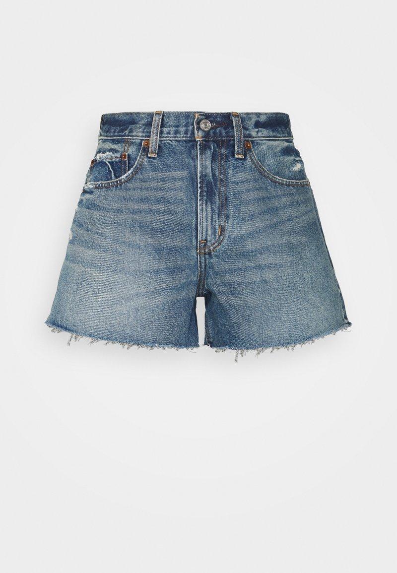 Abercrombie & Fitch - CURVE LOVE MID RISE BOYFRIEND - Denim shorts - medium