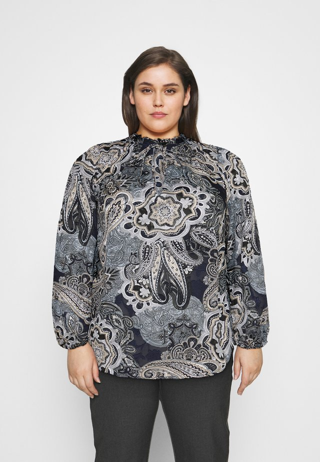 NEUTRAL PAISLEY BLOUSE - Blouse - black