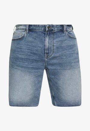 ONSPLY REG RAW HEM ZIP - Shorts di jeans - blue denim