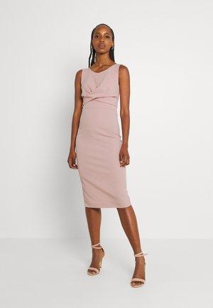SAKINA WRAP MIDI DRESS - Jersey dress - blush pink