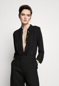 Elisabetta Franchi - Button-down blouse - nero - 0
