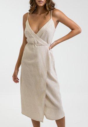 EVE WRAP SLIP - Day dress - beige