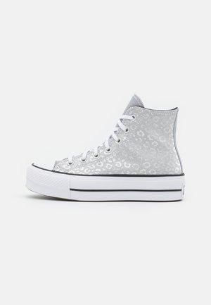 CHUCK TAYLOR ALL STAR GLITTER PLATFORM - Sneakers hoog - silver/black/white
