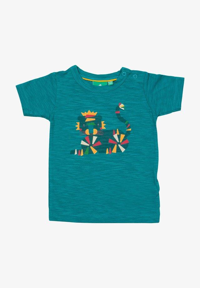 RAINBOW TIGER - T-shirt print - blue