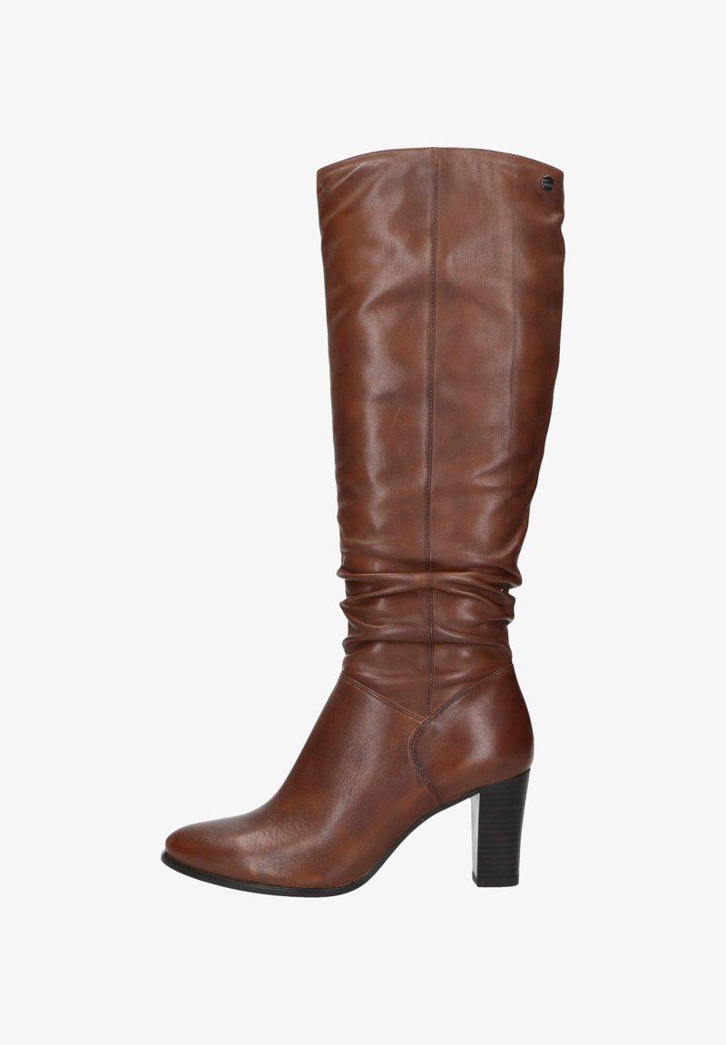 Manfield - MIT ABSATZ - High heeled boots - cognac