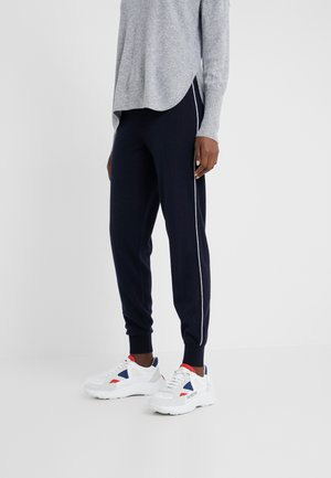 LILLA JOGGERS - Tracksuit bottoms - dark navy/white