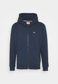 Tommy Jeans - REGULAR ZIP HOOD - Felpa aperta - twilight navy - 4
