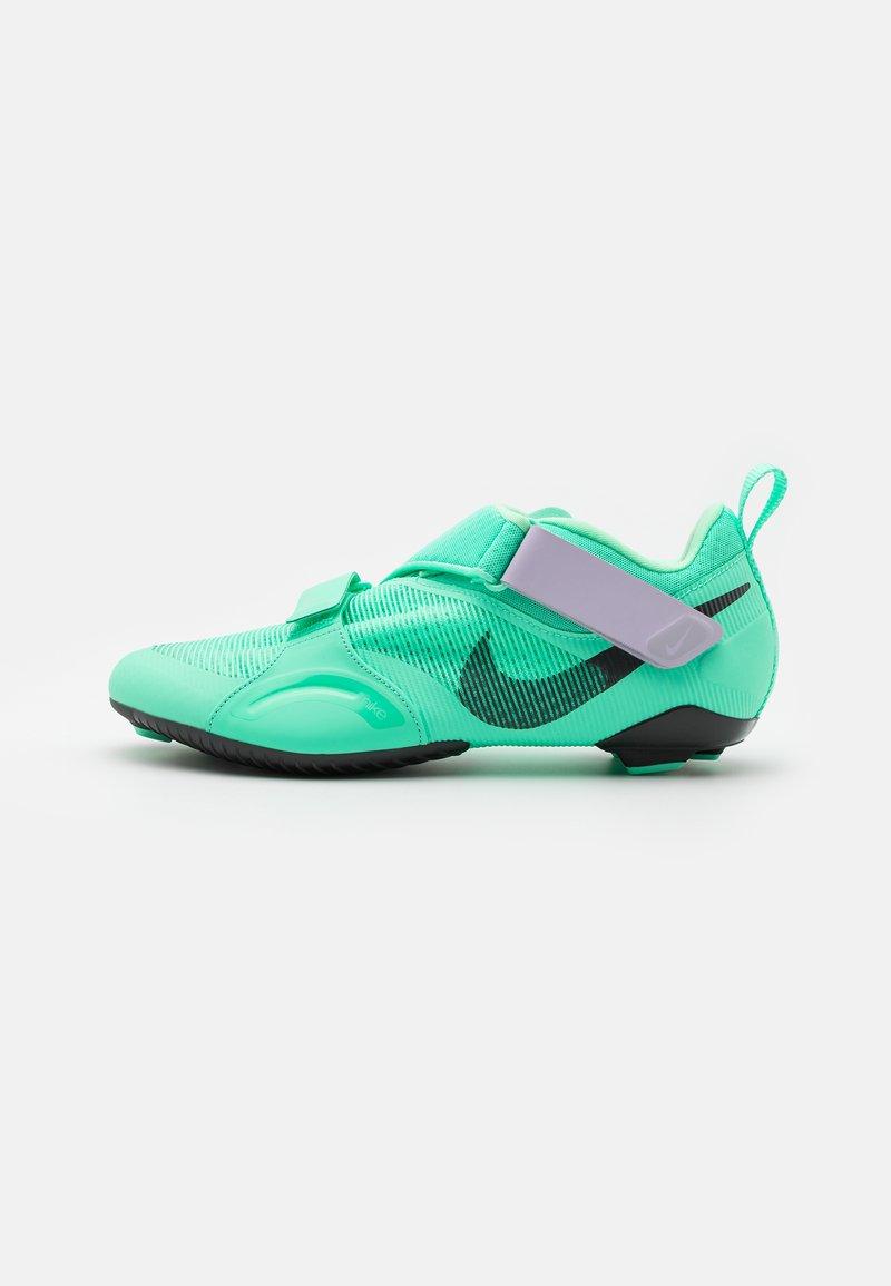 Nike Performance - SUPERREP CYCLE - Cycling shoes - green glow/dark smoke grey/infinite lilac/laser orange