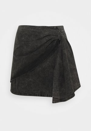 WRAP DETAIL SKIRT - Wrap skirt - grey