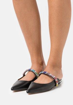 PRINCELY RAINBOW - Pantofle - black