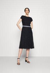 Lauren Ralph Lauren - AMBER SHORT SLEEVE DAY DRESS - Cocktail dress / Party dress - lighthouse navy - 1