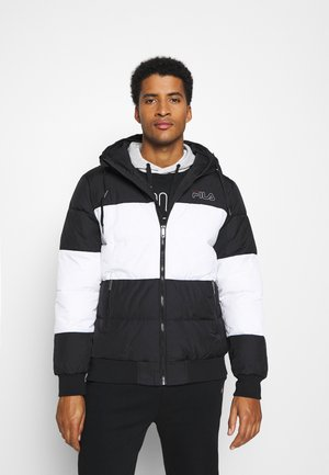 LASSAD PUFFED JACKET - Winter jacket - black/bright white