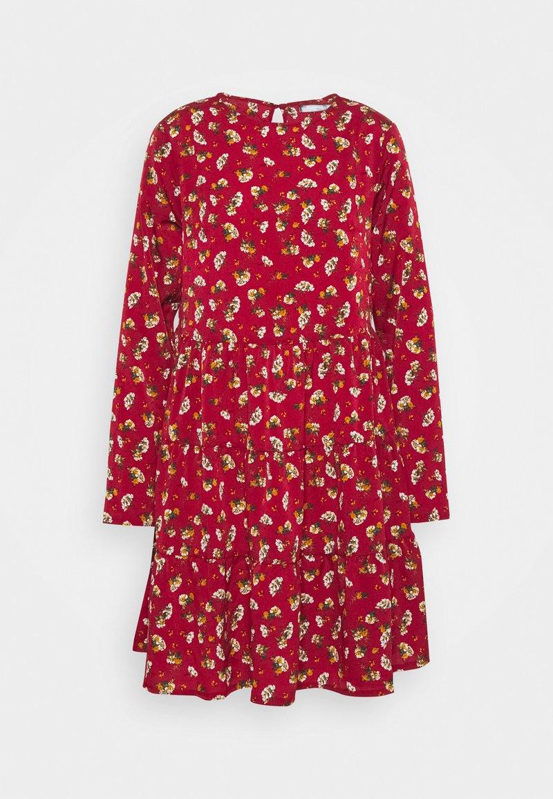Missguided Tall - LONG SLEEVE SMOCK DRESS - Kjole - brick