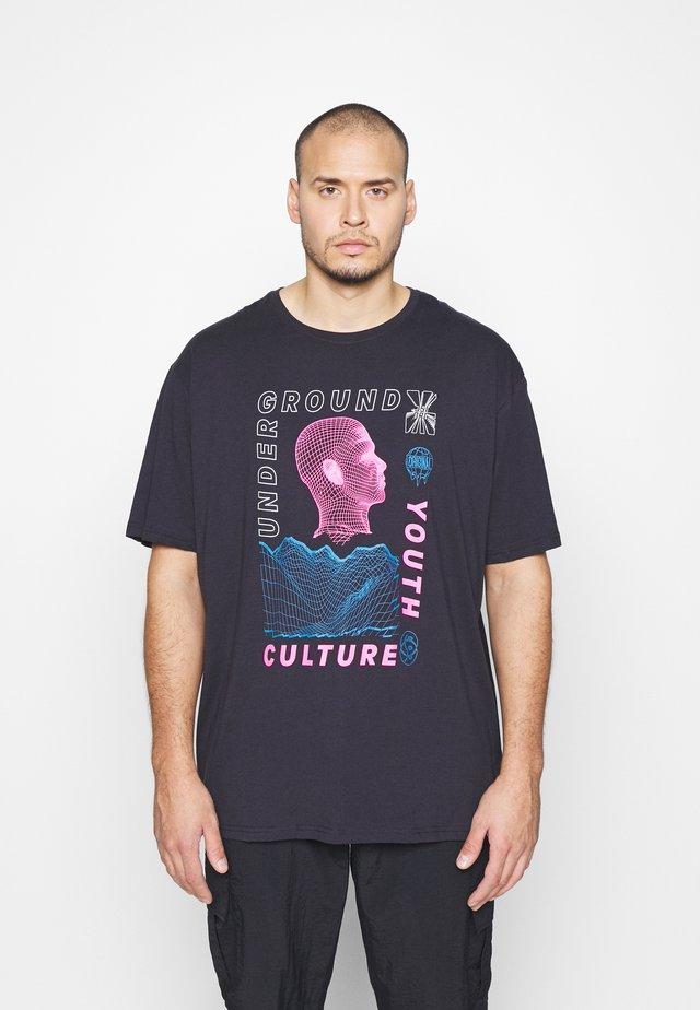 TEE - T-shirt print - dark navy