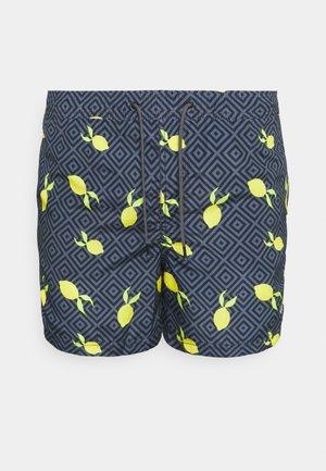 JJIBALI JJSWIMSHORTS FRUIT - Plavky - navy blazer