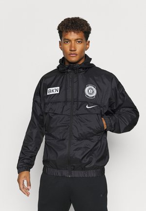 NBA BROOKLYN NETS LIGHTWEIGHT JACKET - Klubtrøjer - black