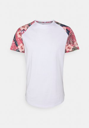 JJFLOWER TEE CREW NECK - Print T-shirt - slate rose
