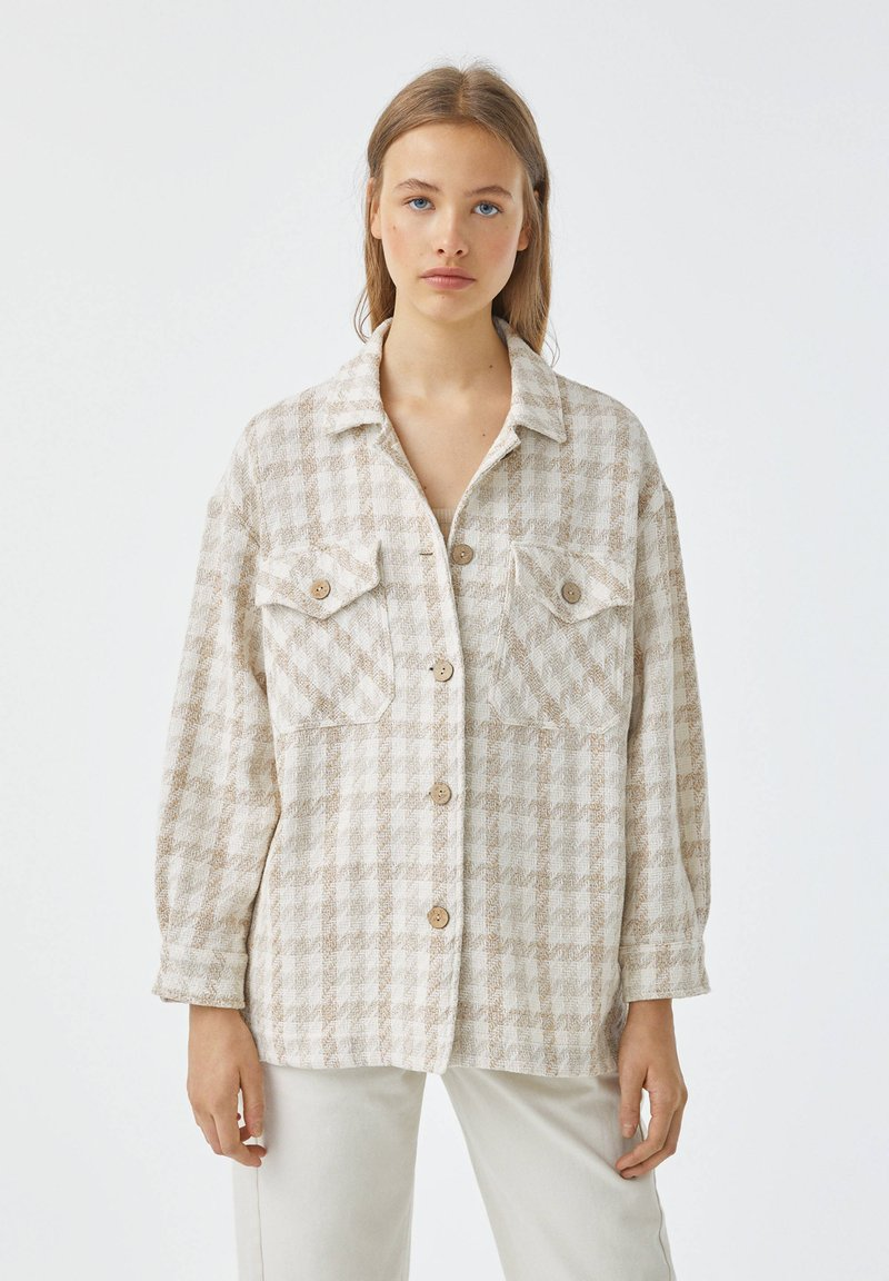PULL&BEAR - Button-down blouse - sand