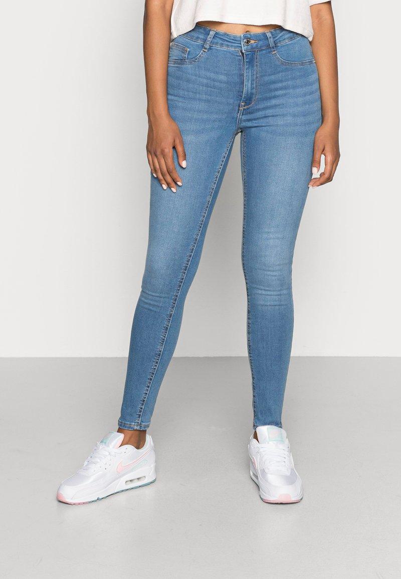 Gina Tricot - HIGHWAIST - Jeans Skinny Fit - midblue