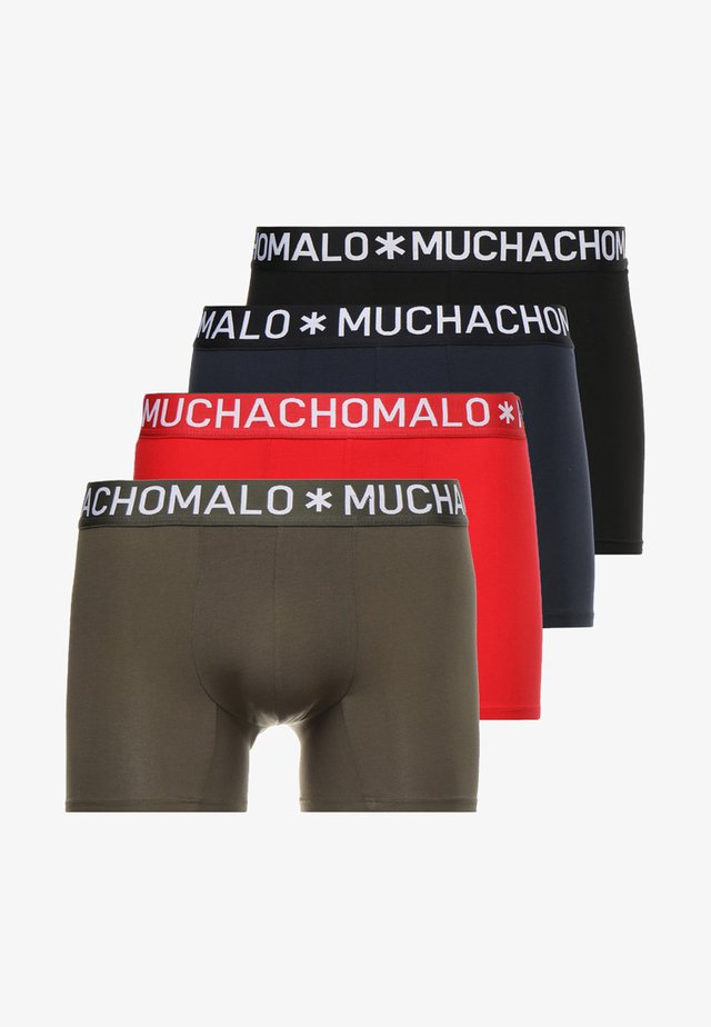 4 PACK - Pants - black/blue/red