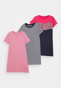 Friboo - 3 PACK - Jerseyjurk - pink/dark blue/pink - 0