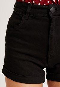 Cotton On - HIGH RISE CLASSIC STRETCH - Szorty jeansowe - black - 5