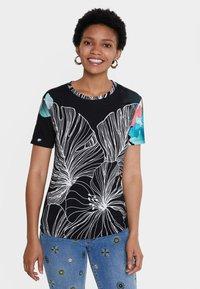 Desigual - T-shirt imprimé - black - 0