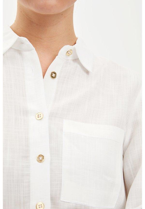 DeFacto Koszula - ecru/beżowy GAPT