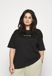 NU-IN - BE YOURSELF SHORT SLEEVE - Jednoduché triko - black - 0