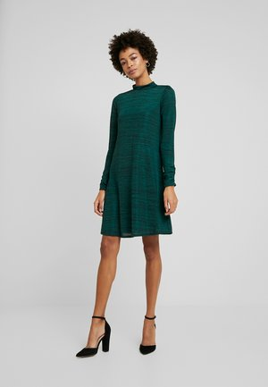 SPACE DYE HIGH NECK SWING DRESS - Jersey dress - green