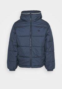 adidas Originals - HOODED PUFF - Vinterjakker - dark blue - 4
